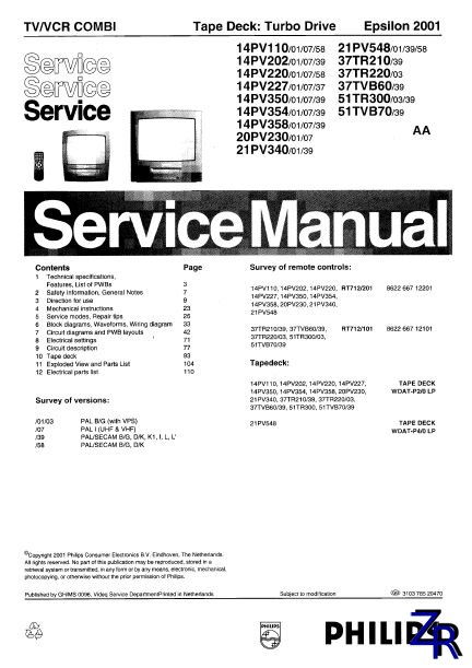 Service Manual - Philips - 14PV110 [PDF]