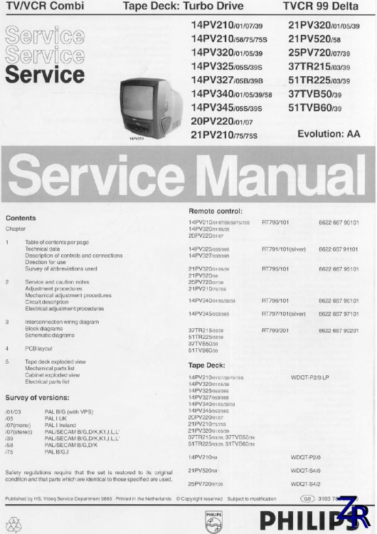Service Manual - Philips - 14PV210 [PDF]